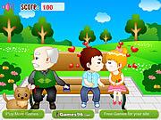 Para całująca się w parku -gra online