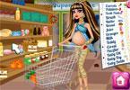 Kleo w ciąży robi zakupy