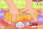 Wielkanocne paznokcie maluszka