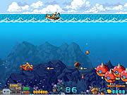 Pływanie łodzią podwodną po morzu