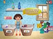 Dora robi pranie
