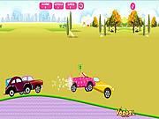 Barbie i jej auta w wyścigu