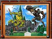 Puzzle z Żółwiami Ninja