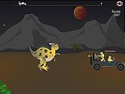 Gra Ucieczka przed dinozaurem